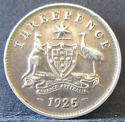 1925 Australia 3d Threepence ** ERROR HUGE DIE CRACKS ** #PW1703-17 =HIGH GRADE=