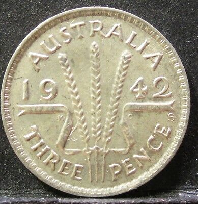 1942 S Australia 3d Threepence ** ERROR DIE CRACK ** #RB342s-5 =HIGH GRADE=