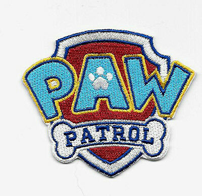 Paw Patrol Patch Embroidered Iron On/Sew On Badge Applique Souvenir