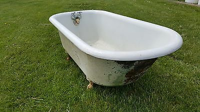 5' Vintage cast iron tub with claw feet
