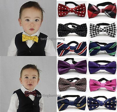 Baby Boy Bow Tie 38 Patterns Two Layers Adjustable Wedding Birthday ChildrenJB02