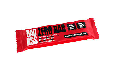 BAD ASS Zero Bar 60g - Chocolate Cake - LOW CARB HI PROTEIN - EIWEISSRIEGEL