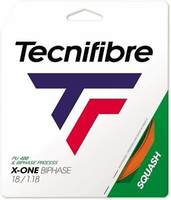 Tecnifibre X-ONE BIPHASE Squash String - 10m - Red - 1.18mm - FREE UK P&P
