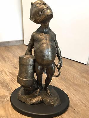 HELLBOY HELLBABY 40cm Baby Bronze Maquette Statur Sideshow Collectibles WOW