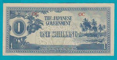 1942 Oceania Japanese Invasion Money JIM One Shilling OC =ABOUT UNCIRCULATED=