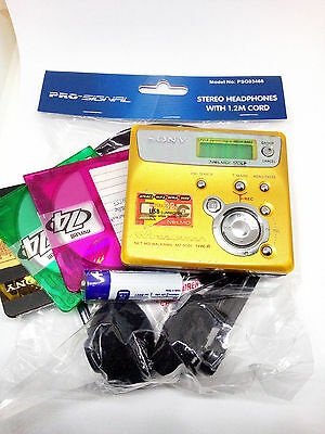 Sony MZ-N505 MD Walkman MiniDisc Recorder Player Portable Personal Stereo GOLD