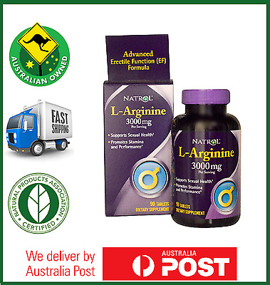 Natrol L-Arginine 3000mg 90 Tablets - EXTRA STRENGTH NITRIC OXIDE - Best Price