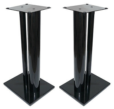 Fisual Dynami Duo Gloss Black Speaker Stands 600mm (Pair)