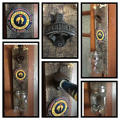 Bottle Opener Wall Mount Golden Fleece Vintage Barware Home Decor Man Cave Gift
