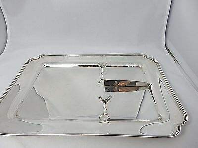 Sterling Colonial by Tiffany & Co. divided tray w/ knife rest! 3 compartment
