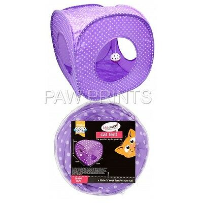 GOOD GIRL CAT KITTEN TENT HIDE PLAY AREA WITH BALL TOY 40 X 40 X 40 cm FOLD AWAY