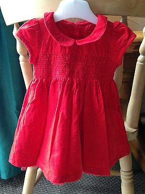 M&S Baby Girls Red Dress 3-6 Months