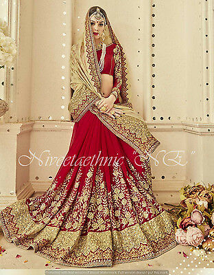 New Bridal Designer Saree Traditional Wedding Sari Heavy Zari Work Party Sari
