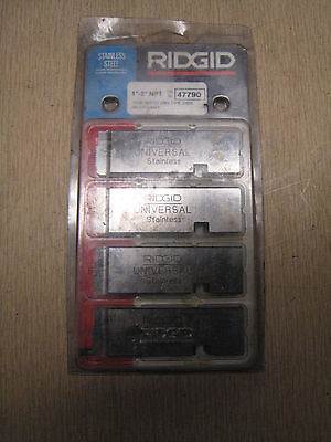 "NEW Ridgid 47785 1/2""-3/4"" NPT Universal High Speed Stainless Steel Dies RH"