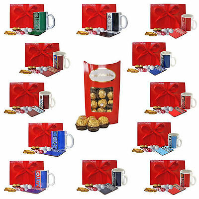 Father's Day Gift Box Football Mug Coaster Ferrero Rocher box for Him Dad Daddy