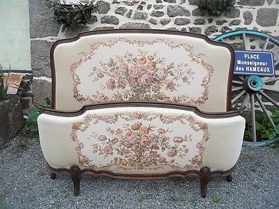 Flamboyant Louis Xv Revival Quality Corbelle Double Bedstead