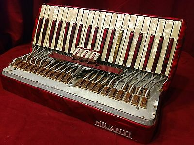 "Red Milanti Accordion Repair Part - Treble Section 16.75"" x 9"" x 7"""
