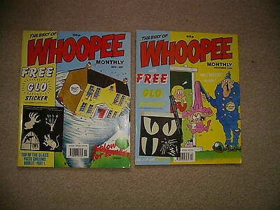 The best of WHOOPEE Monthly, x 2 + free gifts, 1991, like Buster & Jackpot, vgc
