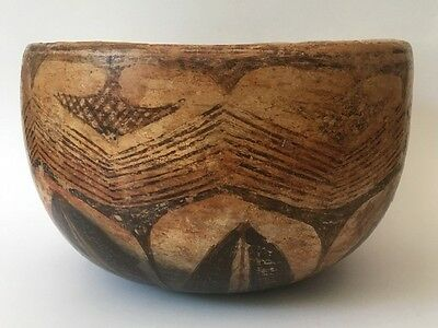 Pre-Columbian Nayarit Chinesco Large Deep Ceramic Pottery Bowl 200BC-200AD