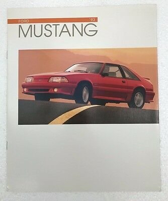 1993 Ford Mustang dealer Brochure - 5.0, LX, GT EXCELLENT CONDITION