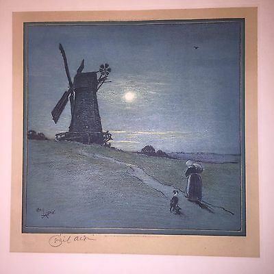 1924 CECIL ALDIN Arts Crafts Dutch Holland scene British Illustrator