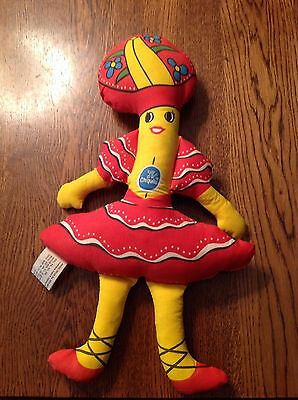 "Vintage Chiquita Banana Plush Toy Doll 15"" 1975 Advertising Chaseline"