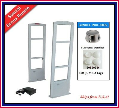 Double Door / 500 JUMBO Tag EAS RF Checkpoint Compatible Security System + Tool