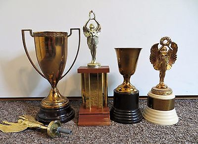 BIRD TROPHY ANTIQUES metal brass trophies from 1940's -1950's