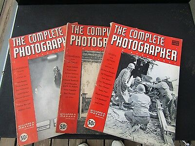 The Complete Photographer Quarterly Vintage Magazine 1943/1944 Numbers 2, 3, & 4