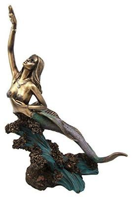 Collectibles Large Coastal Mermaid Maiden Rising Above The Waves Figurine