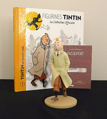 "LARGE 5/"" TINTIN FIGURINE /""OFFICIAL COLLECTION/"" # M108 LE GÉNÉRAL TAPIOCA"