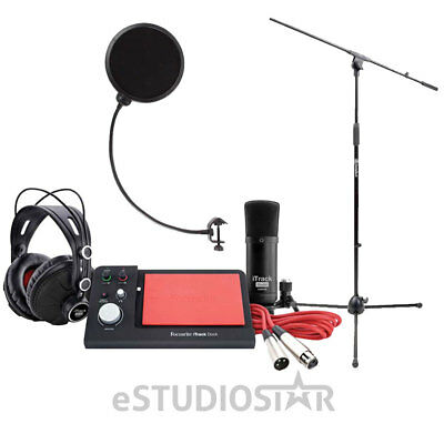 Focusrite iTrack Dock Studio Pack with Mic Stand and WindPop, software