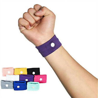 Anti Nausea Morning Sickness Motion Travel Sick Wrist Band Car Sea Plane AU