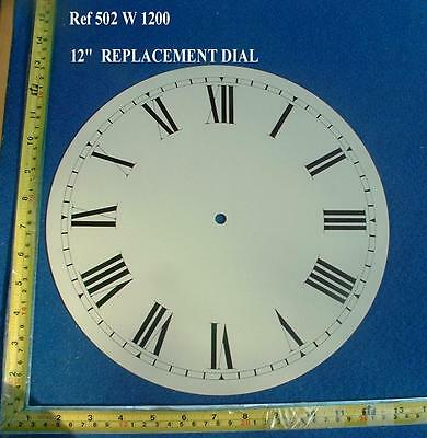Ref: 502 - Replacement 12 Inch Dial face for Fusee Dial / American Wall Clock