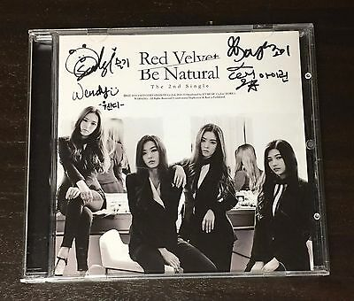 "RED VELVET autographed ""Be Natural"" 2nd Single signed PROMO CD"