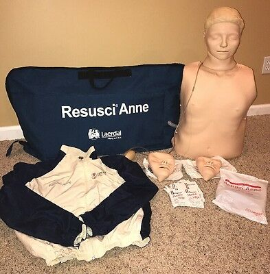 Resusci Anne The  CPR Doll Dummy with Carrying Case, Replacements, And Extras