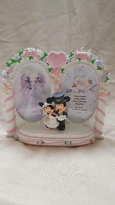 Disney Store Exclusive My Wedding Gift Mickey & Minnie Mouse Resin Picture Frame