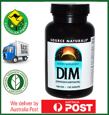 Source Naturals DIM (Diindolylmethane) 100 mg - 60, 120, 180 or 240 Tabs Avail.
