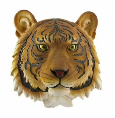 Yellow Tiger Head Wall Art Figurine Hanging