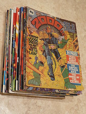 22 issues 2000AD SCI-FI & WINTER SPECIALs various from 1980 to 1996