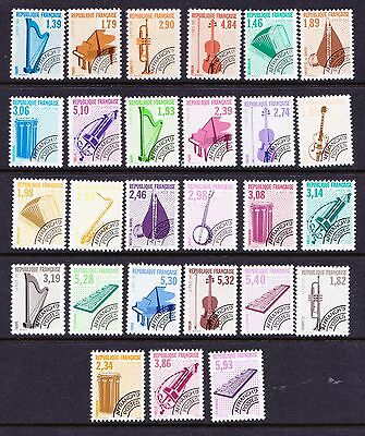 FRANCE 1990s Pre-Cancelled Stamps - Musical Instruments - MNH selection - (75)