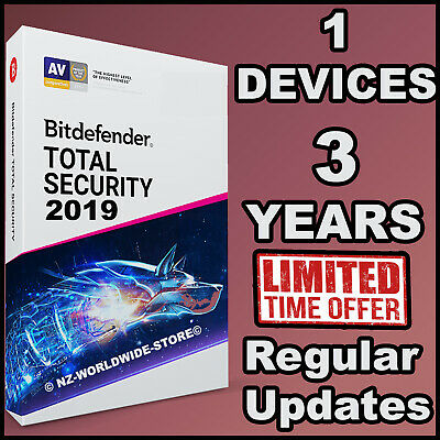 Bitdefender Total Security 2019 - 3 Years Activation 1 Device - Download