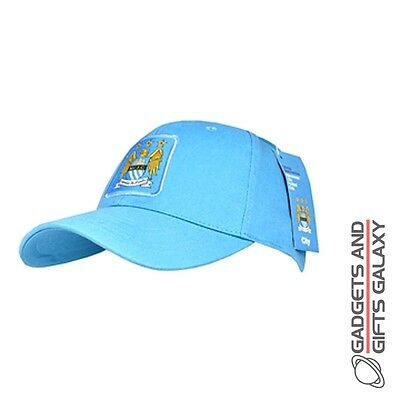 OFFICIAL MANCHESTER CITY FOOTBALL CLUB SQUARE CREST SKY BASEBALL CAP Clothing ac