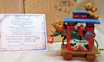 Cherished Teddies Casey Friendship Perfect End To Holidays Santa Express 219525