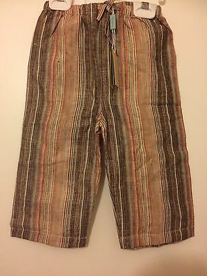 Baby Boys Linen Trouser From Monsoon 12-18 Months,new With tags