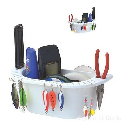 Cockpit Organizer White Sport Equipment Fishing Accessory Storage Holder Boat In