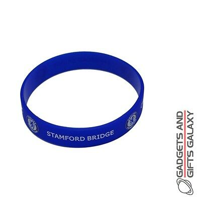 OFFICIAL CHELSEA FOOTBALL CLUB RUBBER CREST WRISTBAND Sporting goods accessory
