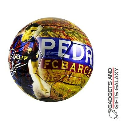 OFFICIAL BARCELONA FOOTBALL CLUB SIZE 5 PEDRO SOCCER BALL Sporting goods