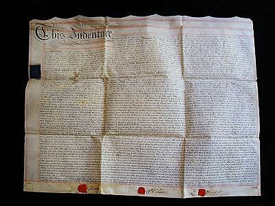 1787 Vellum Document, The Tower of London, Stanesby Alchorne, Samuel Lord Hawley