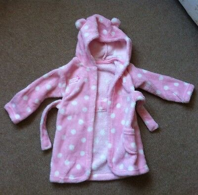 Baby Girl Dressing Gown 6-12 Months